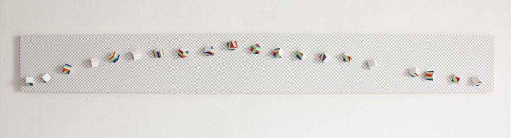 Liu Ren 刘任, Rainbow 2013 彩虹 2013, 2013, Oil on acrylics 油彩在亚克力上, 15 x 180 cm