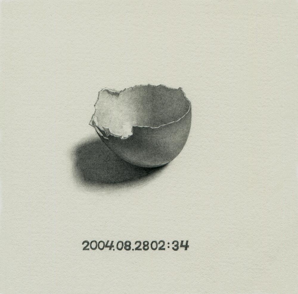 Liu Ren 刘任, Emptyness - Two Days 空-两天 , 2012, Pencil on paper 纸上铅笔, 12 x 12 cm