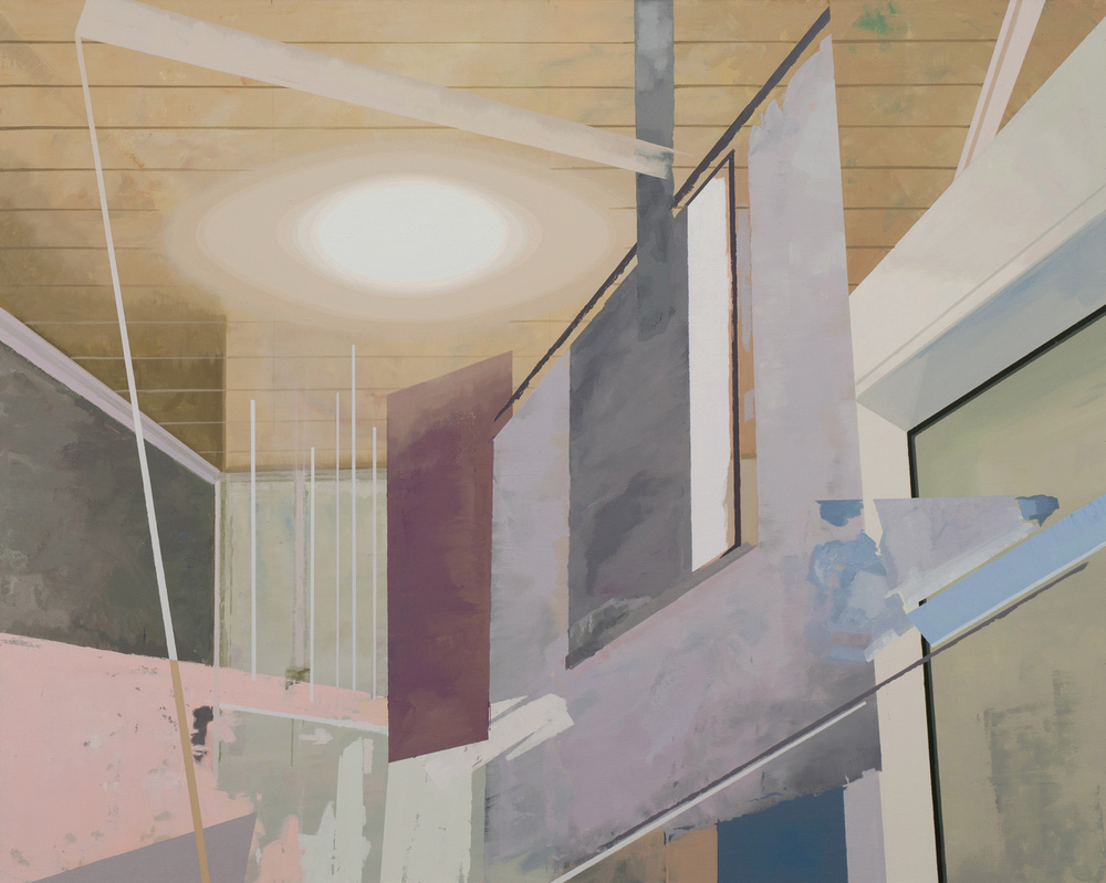 Hou Yong 侯勇, Tilted Wall-02 倾斜的墙-02, 2013, Acrylic on canvas 布面丙烯, 160 x 200 cm