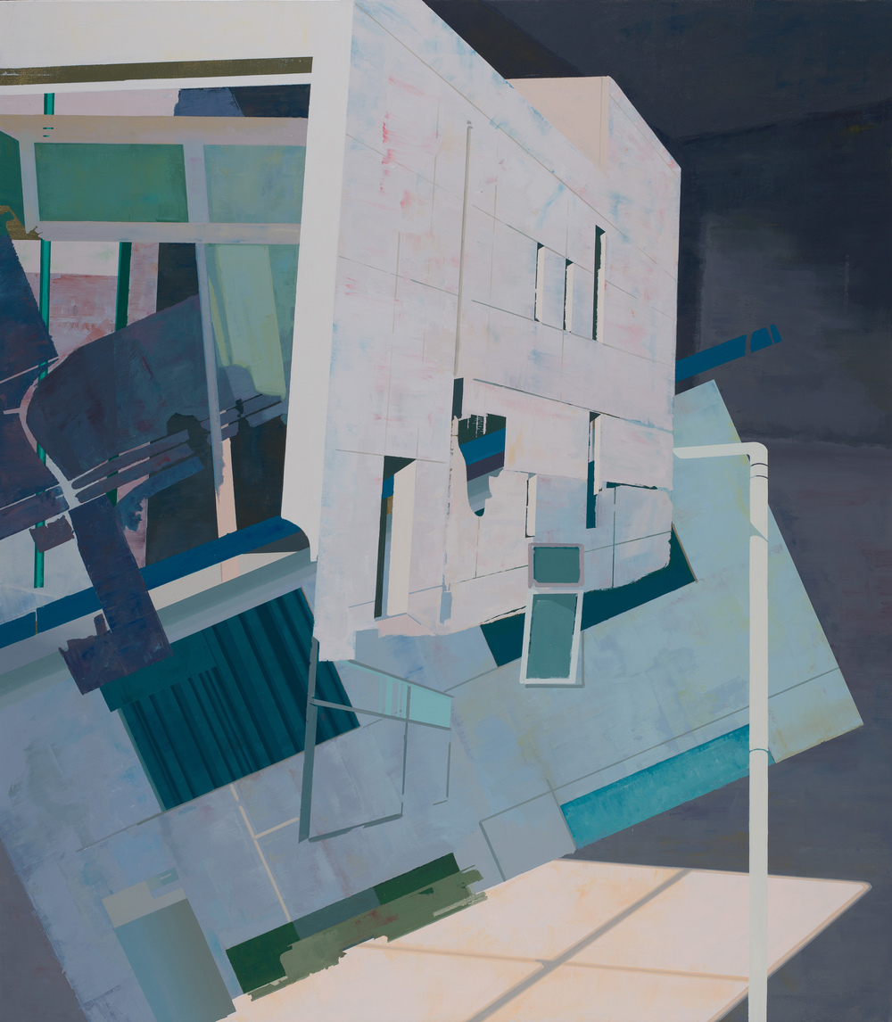 Hou Yong 侯勇, Tilted Wall-03 倾斜的墙-03, 2013, Acrylic on canvas 布面丙烯, 200 x 175 cm