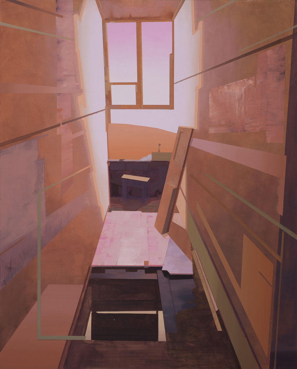 Hou Yong 侯勇, Window-3 窗-3, 2013, Acrylic on canvas 布面丙烯, 100 x 88 cm