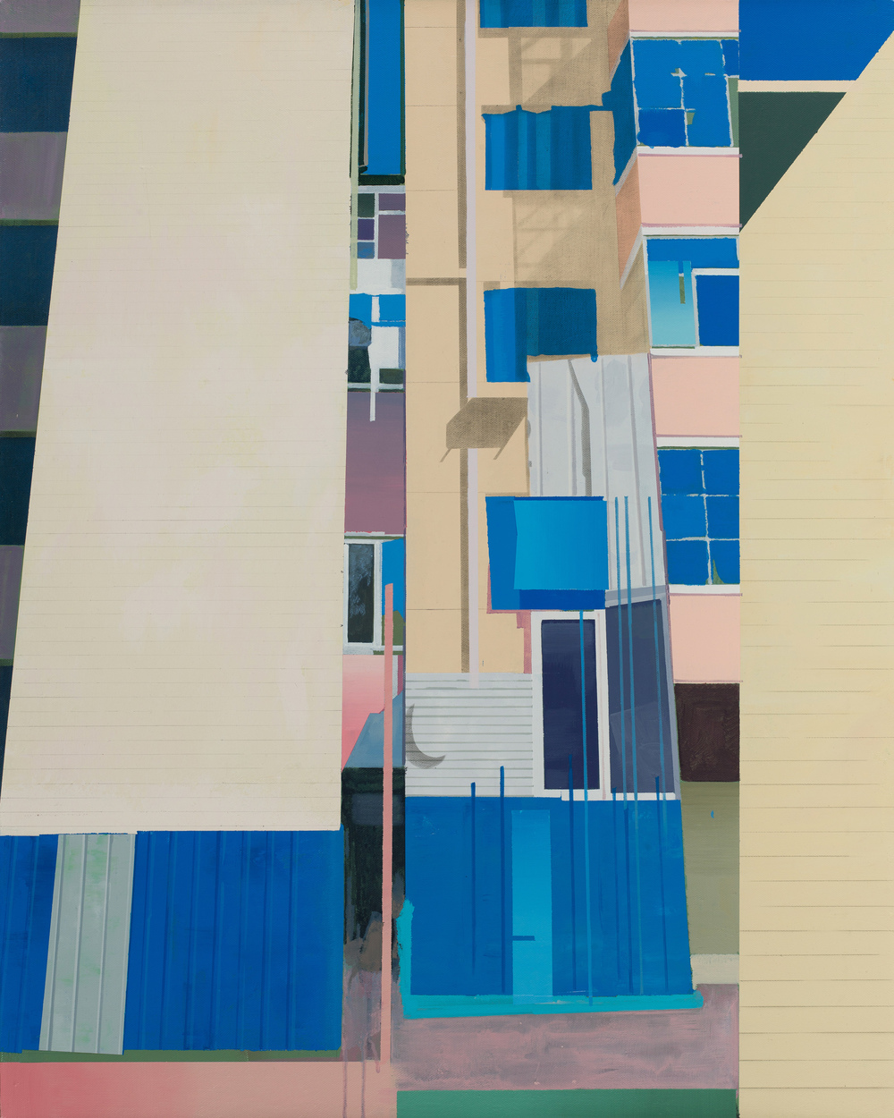 Hou Yong 侯勇, Blue Window 蓝窗, 2013, Acrylic on canvas 布面丙烯, 100 x 80 cm