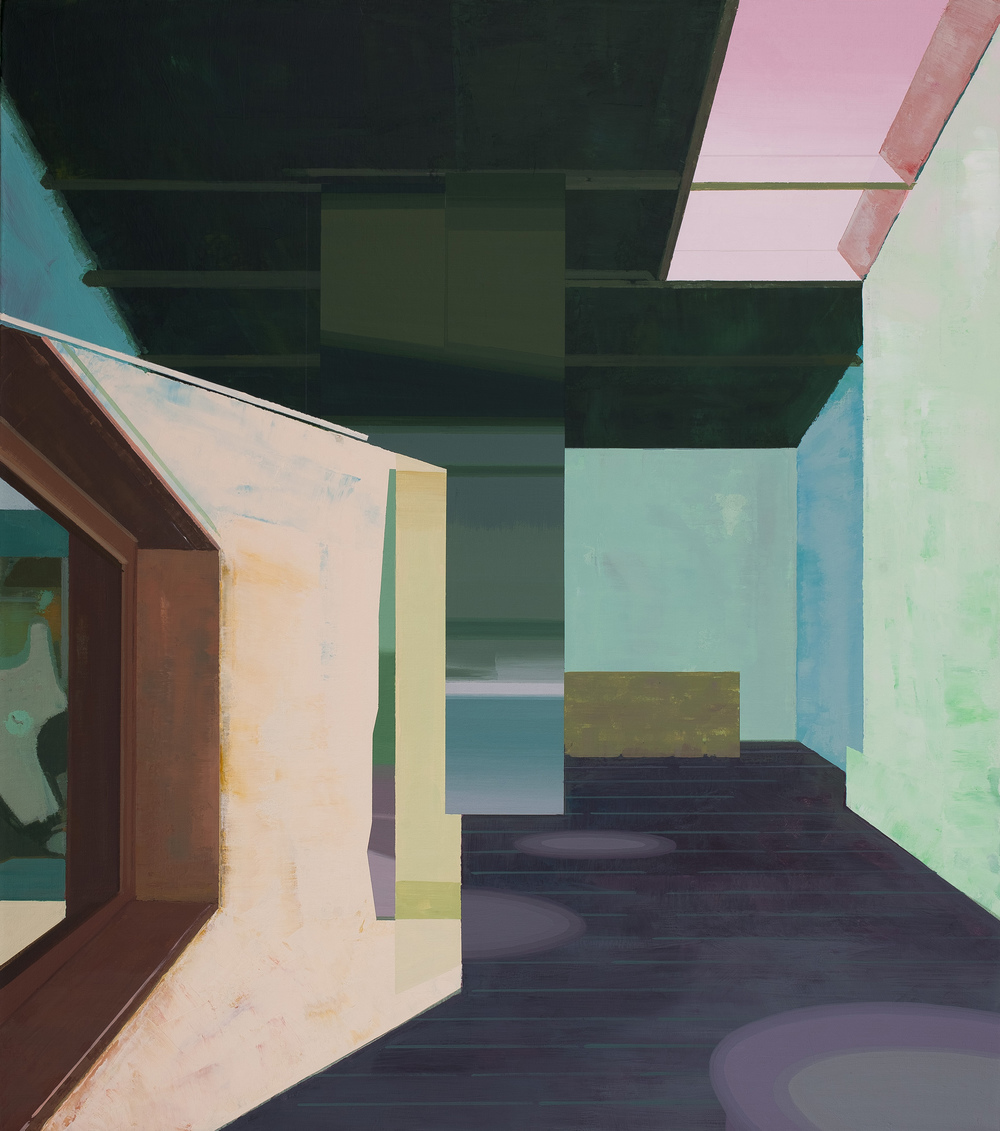 Hou Yong 侯勇, Angle-1 折角-1, 2013, Acrylic on canvas 布面丙烯, 100 x 88 cm