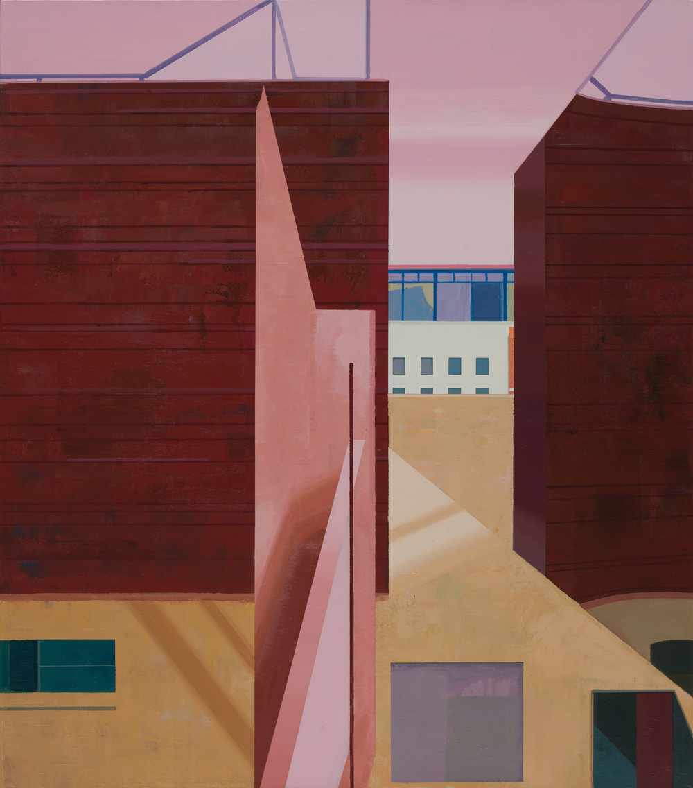 Hou Yong 侯勇, Angle-2 折角-2, 2013, Acrylic on canvas 布面丙烯, 100 x 88 cm