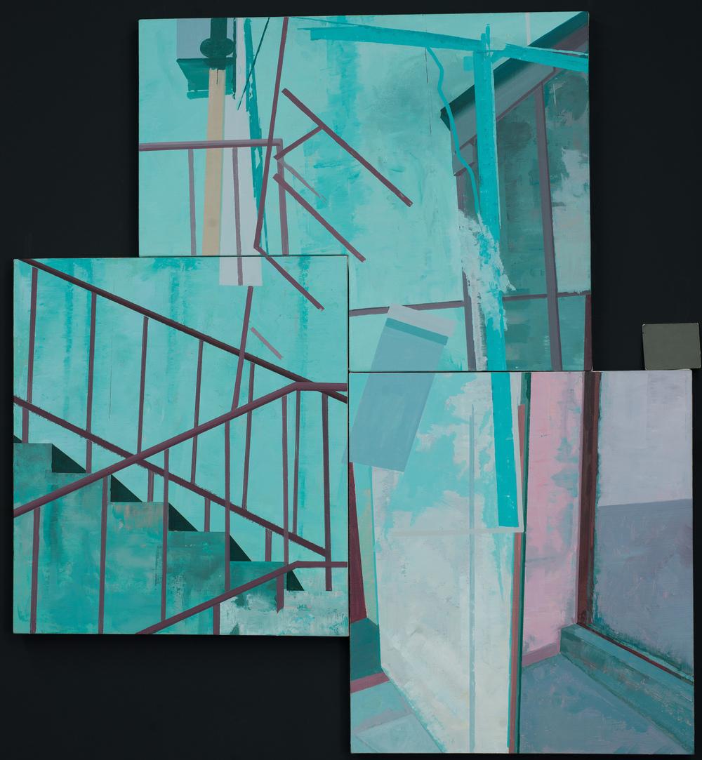 Hou Yong 侯勇, Railing 栏杆, 2013, Acrylic on canvas 布面丙烯, 160 × 160 cm