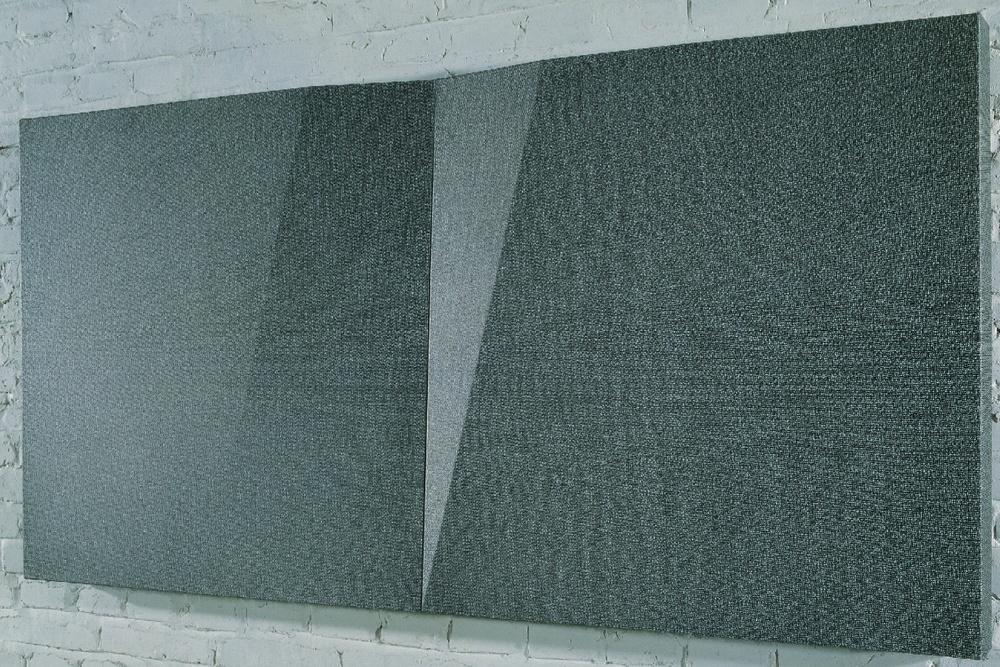 Liu Wentao 刘文涛, Untitled 无题, 2008, Pencil drawing on canvas 布面铅笔素描, 80 x 80 cm x 2