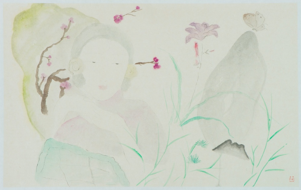 Wang Mengsha 王濛莎, Green Lotus 碧荷, 2013, Chinese ink and color on rice paper 纸本水墨设色, 56 x 81 cm