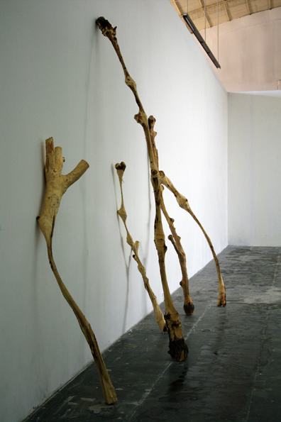 Yang Xinguang 杨心广, Thin 瘦, 2009, Wood 木, Dimension variable 尺寸可变