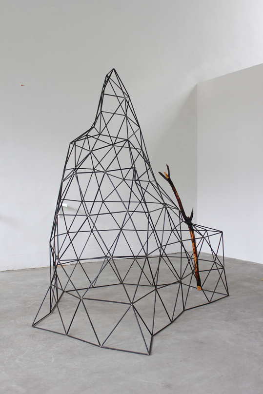 Yang Xinguang 杨心广, Mountain Forest 2 山林2, 2011, Wood and steel 木与铁, 220 x 170 x 24 cm