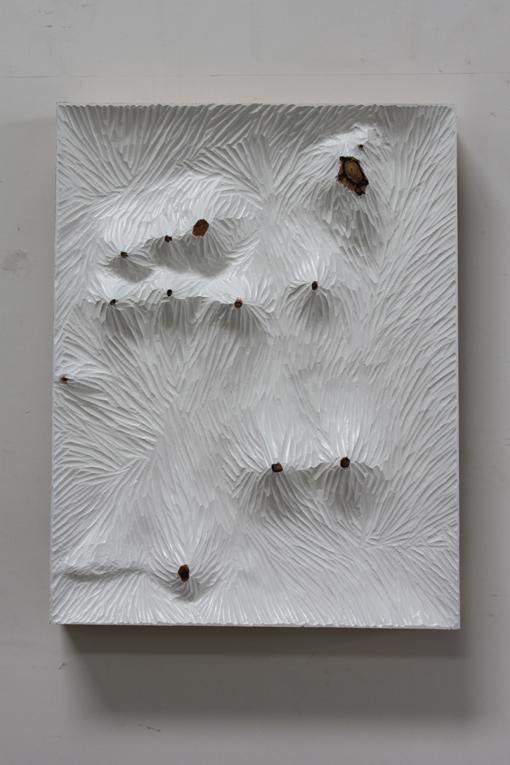Yang Xinguang 杨心广, Untitled 无题 (白木板1), 2013, Acrylic and wood 丙烯颜料、木, 60 x 47 x 8 cm