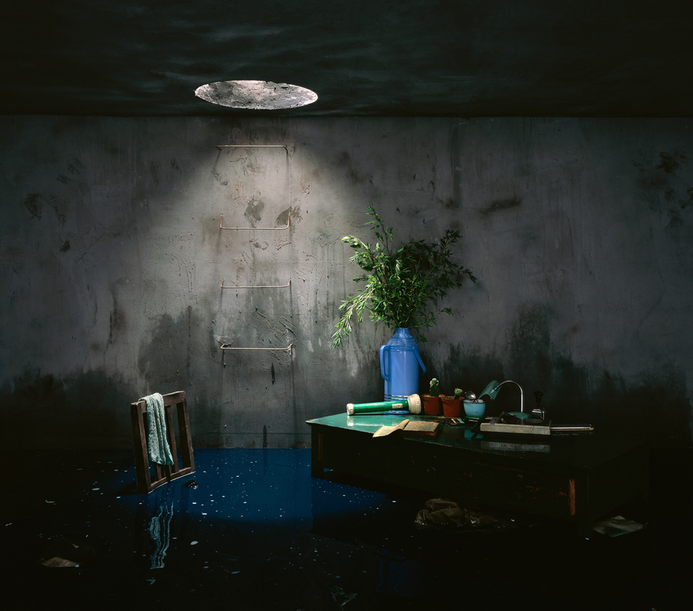 Chen Wei 陈维, Blue Ink, 2009, Archival inkjet print 收藏级艺术微喷, 150 x 170 cm