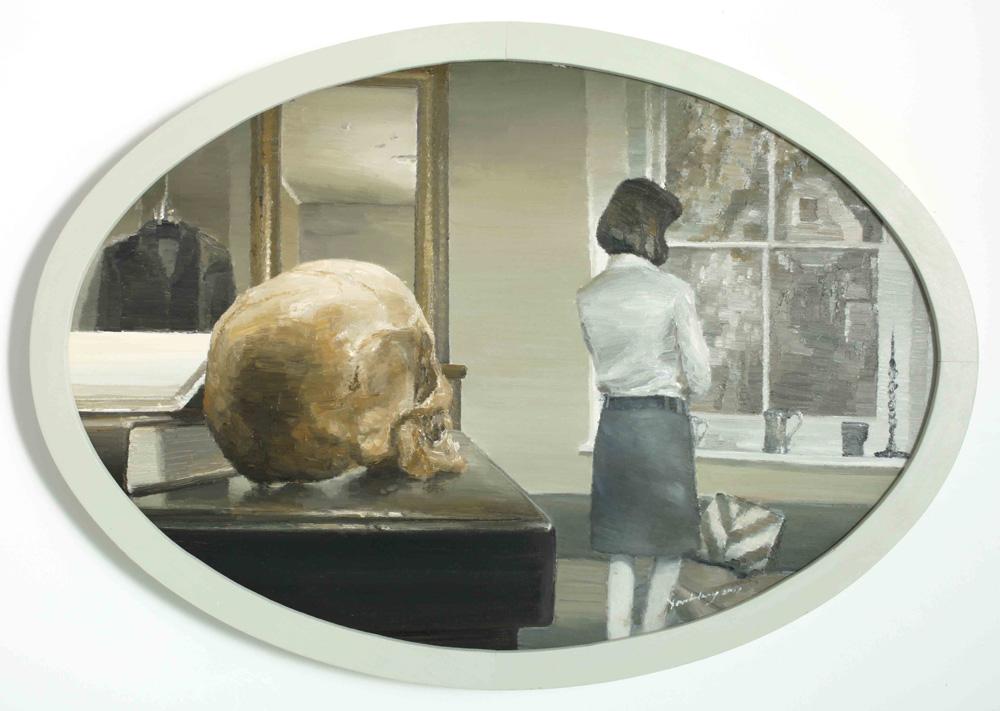 Yan Heng 闫珩, Thinker 思想者, 2011, Oil on canvas 布面油画, 87 x 60 cm