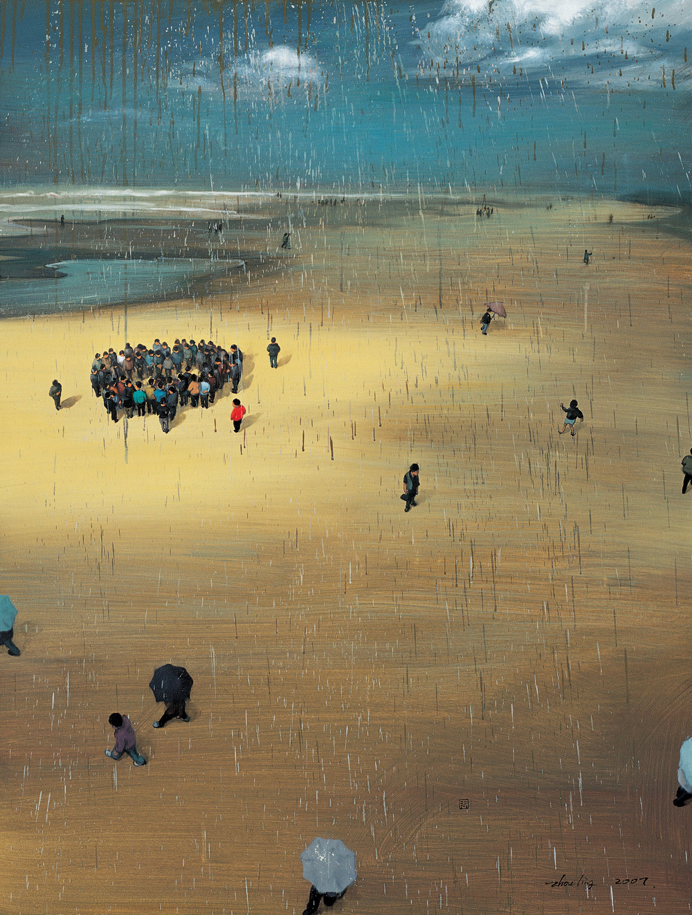 Zhou Jinhua 周金华, It's All the Same in the End No.2 最后结果都一样 No.2, 2007, Oil on canvas 布面油画, 145 x 110 cm