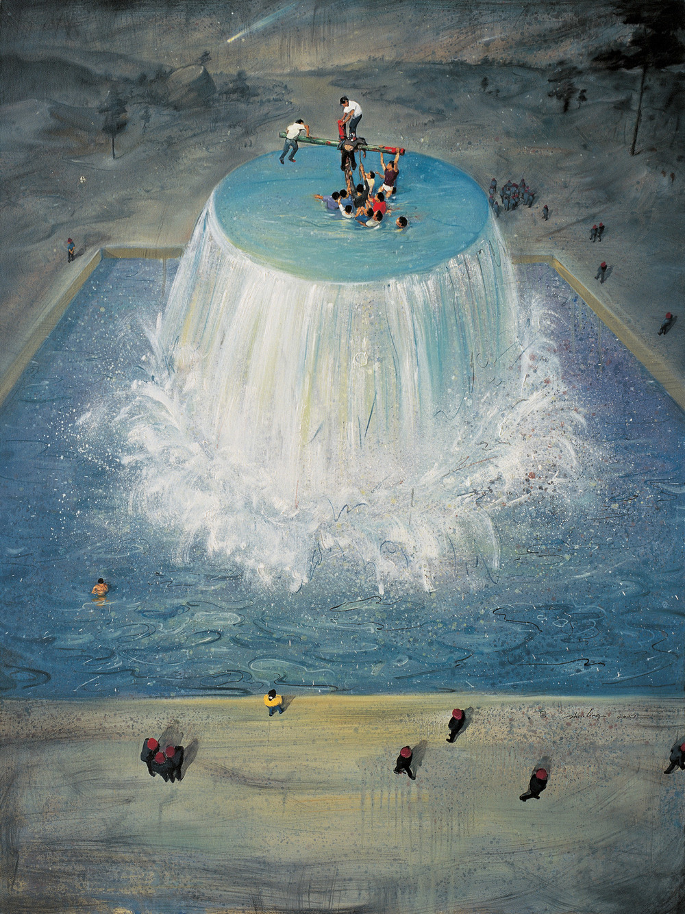 Zhou Jinhua 周金华, Fountain  No.1 源泉 No.1, 2007, Oil on canvas 布面油画, 145 x 110 cm