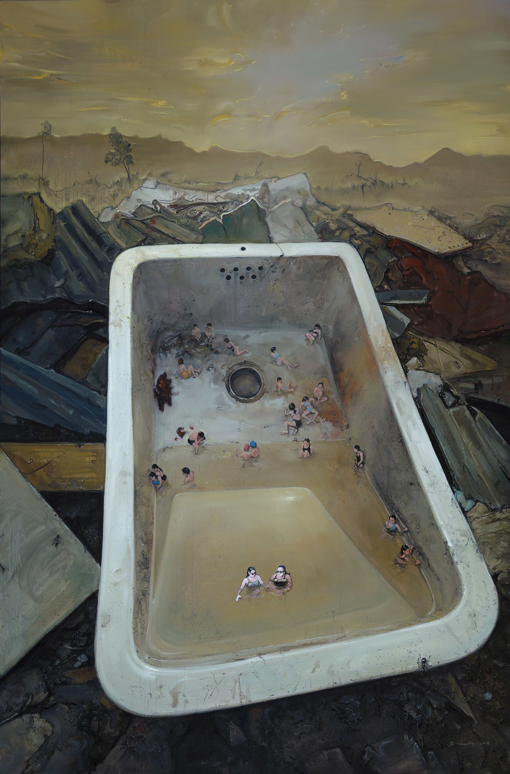 Zhou Jinhua 周金华, Golden Age No.9 黄金时代 No.9, 2008, Oil on canvas 布面油画, 300 x 200 cm