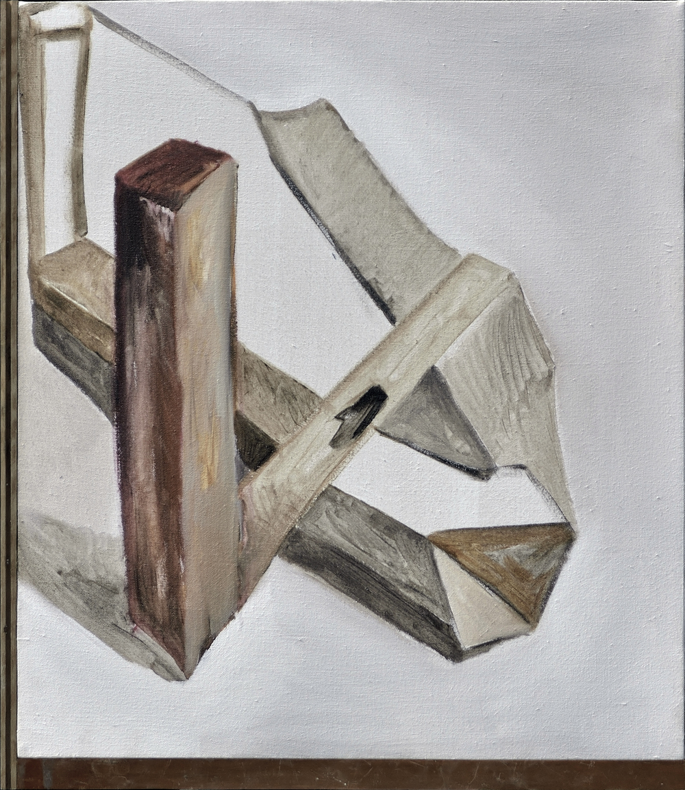 Chen Yujun 陈彧君, A State of Similarity 0110 相似物0110, 2014, Acrylic on canvas, wooden floor 布面丙烯, 木地板, 83.5 x 72 cm