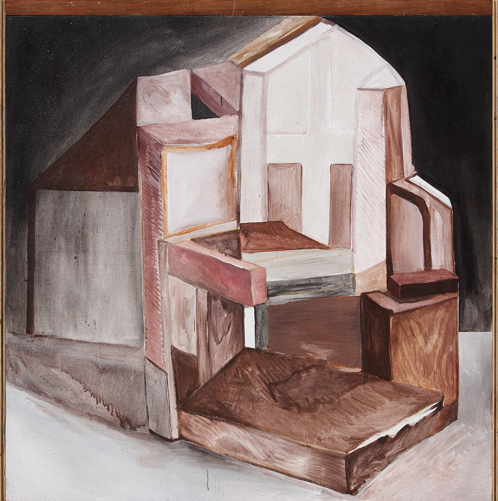 Chen Yujun 陈彧君, Crooked House No.141107 错屋No.141107, 2014, Acrylic on canvas 布面丙烯, 150 x 150 cm