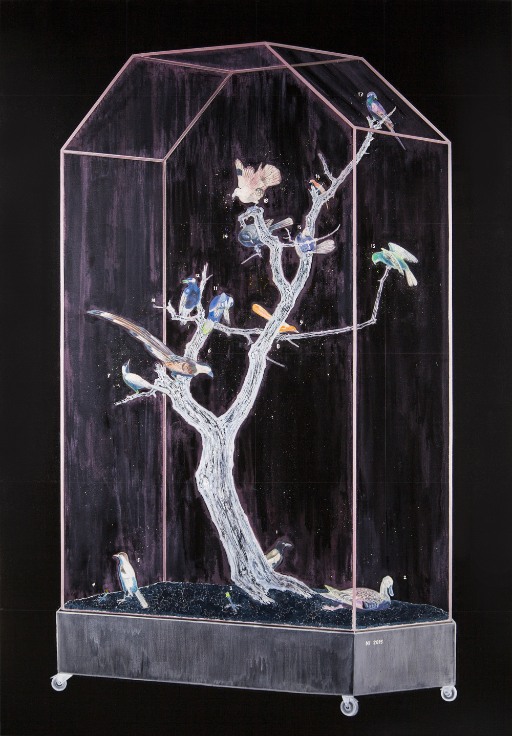 Ni Youyu 倪有鱼, Transparent Monument No.7 透明碑7号, 2015, Mixed media on canvas 布面综合材料,230 × 160 cm