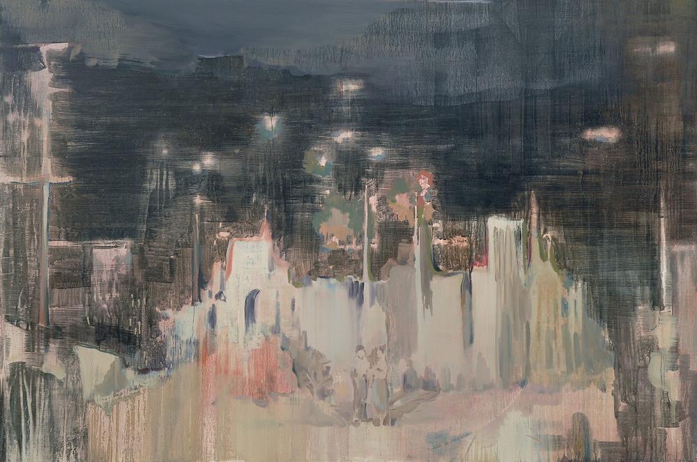 Lu Song 吕松, Midnight Drama 午夜剧场, 2014, Oil on canvas 布面油画, 210 x 140 cm