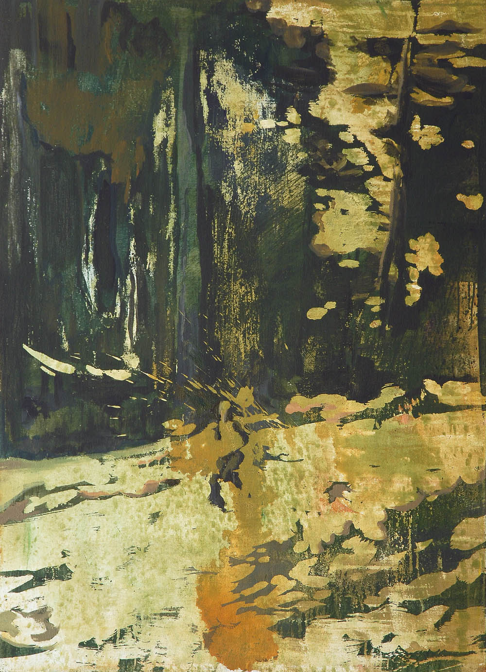 Lu Song 吕松, The Glad 林中空地, 2015, Oil on canvas 布面油画, 110 x 80 cm