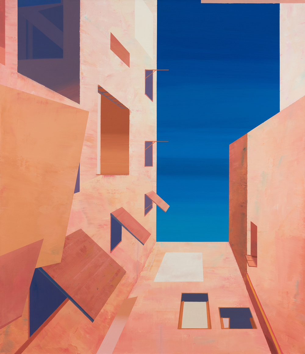 Hou Yong 侯勇, Angle-4 折角-4, 2014, Acrylic on canvas 布面丙烯, 150 x 130 cm