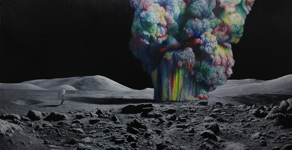 Shang Chengxiang 商成祥, Journey in the Clouds No.8 云图系列之八, 2014, Oil on canvas 布面油画, 215 x 430 cm