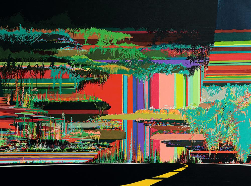 Zhou Fan 周范, Landscape 23:15 风景 23:15, 2015, Acrylic on canvas 布面丙烯, 90 x 120 cm
