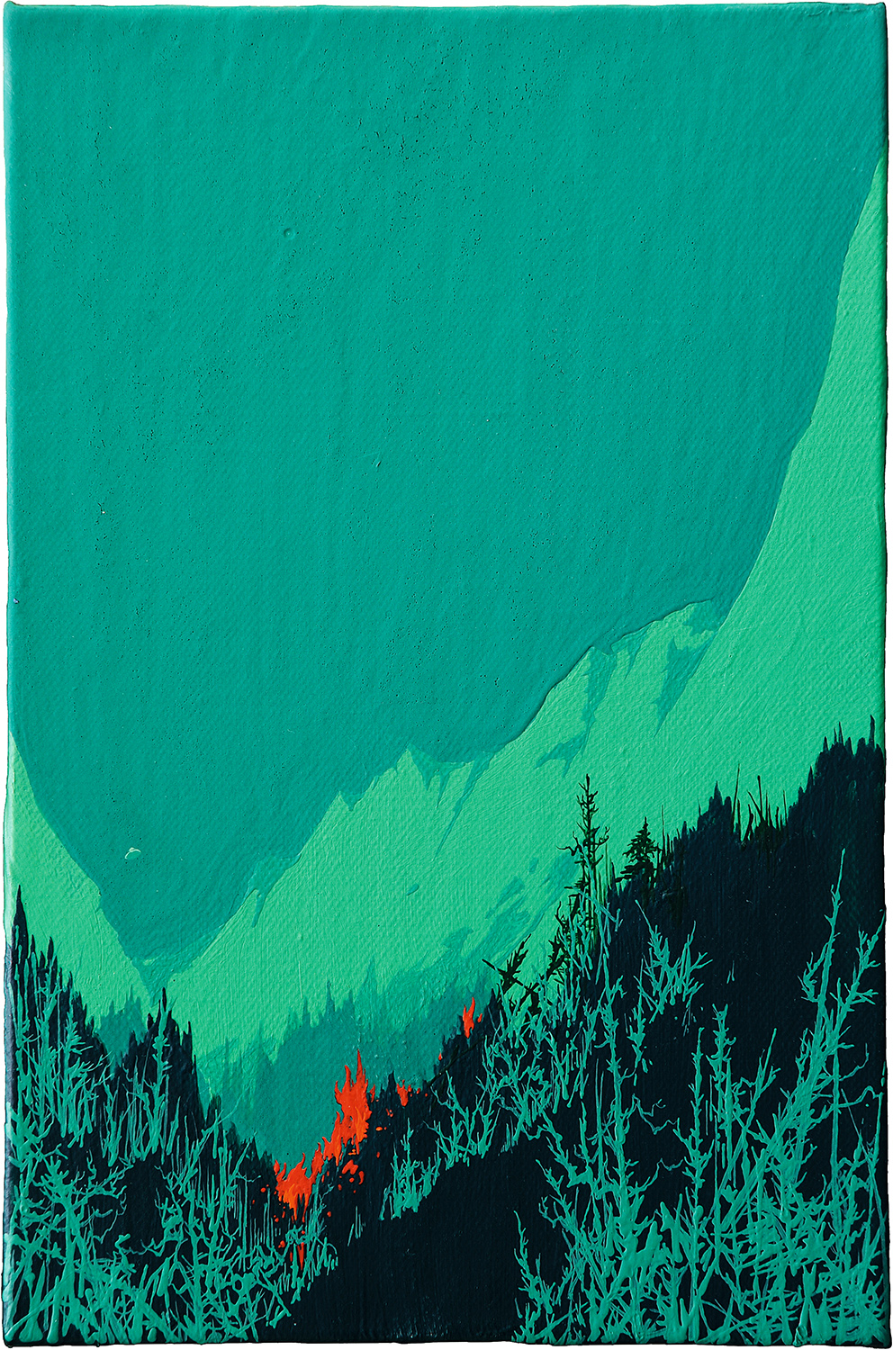 Zhou Fan 周范, Landscape 00:27 风景 00:27, 2015, Acrylic on canvas 布面丙烯, 30 x 20 cm