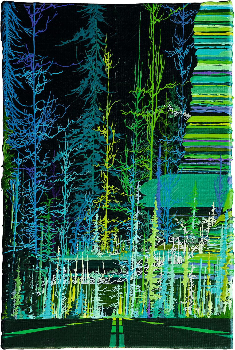 Zhou Fan 周范, Landscape 05:18 风景 05:18, 2015, Acrylic on canvas 布面丙烯, 30 x 20 cm