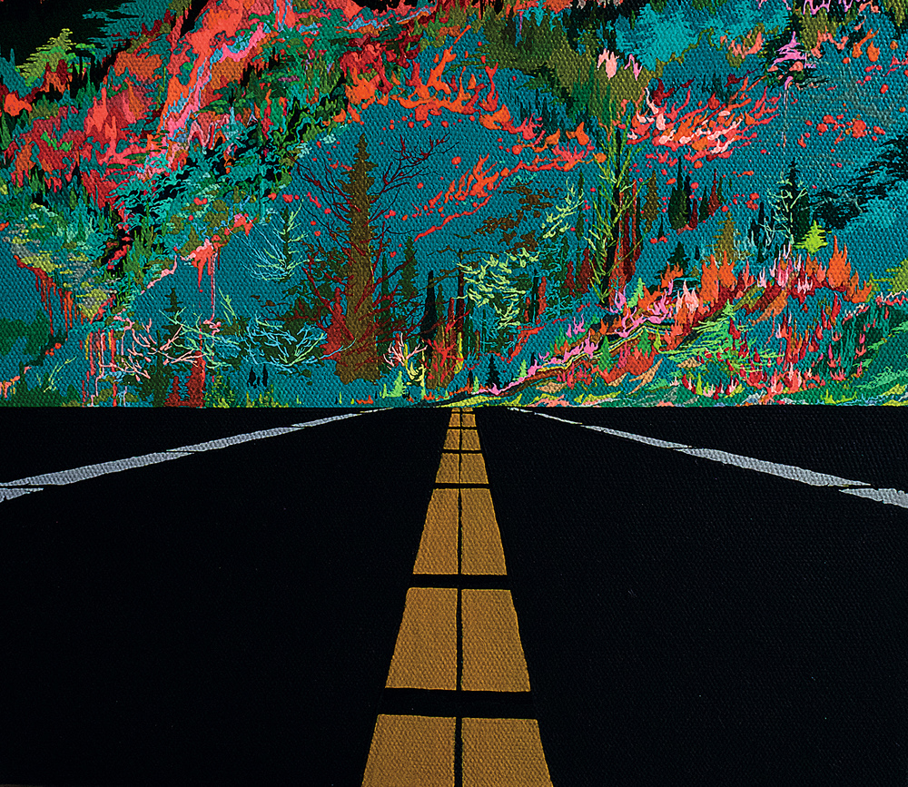 Zhou Fan 周范, Landscape 00:02 风景 00:02, 2015, Acrylic on canvas 布面丙烯, 30 x 35 cm