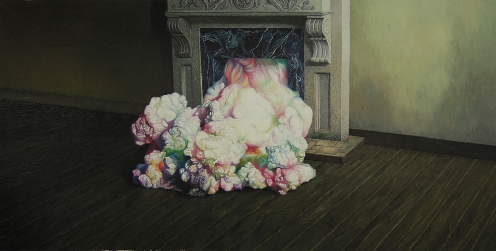 Shang Chengxiang 商成祥, Journey in the Clouds No.5 云图系列之五, 2014, Oil on canvas 布面油画, 110 x 220 cm