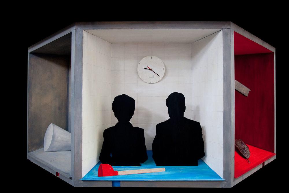 Wu Junyong 吴俊勇, 7 O'clock 七点, 2012, Acrylic on wood 木上丙烯, 270 x 260 x 120 cm