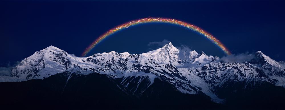 Jiang Zhi 蒋志, Rainbow-Out of Service No.3 不在服务区的彩虹之三, 2008, C-print 艺术微喷, 180 x 466 cm/ 90 x 233 cm