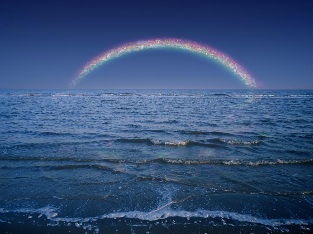 Jiang Zhi 蒋志, Rainbow-Out of Service No.1 不在服务区的彩虹之一, 2008, C-print 艺术微喷, 180 x 240 cm/ 120 x 160 cm