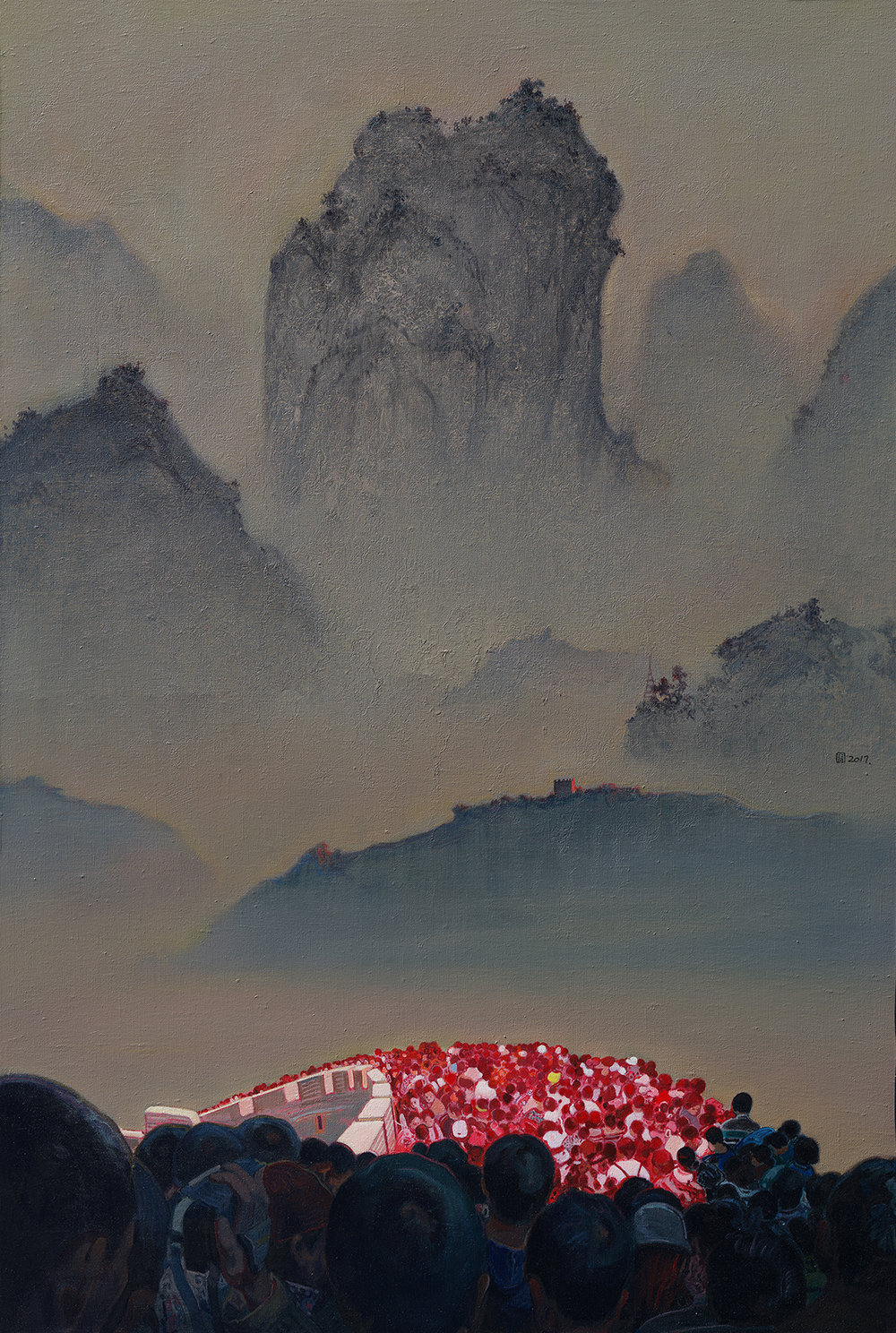 Zhou Jinhua 周金华, The Great Wall 长城, 2017, Acrylic on canvas 布面丙烯, 120 x 80 cm