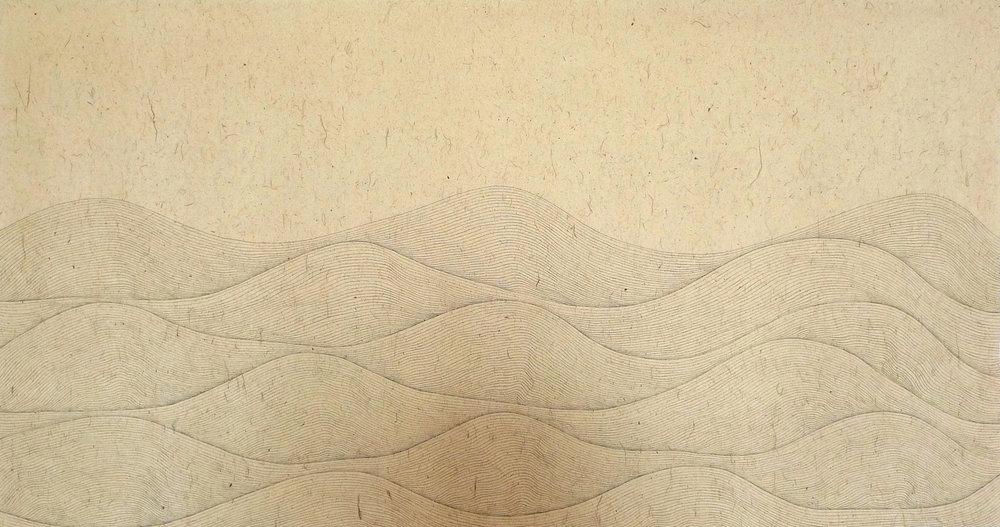 Zhou Jianjun 周建军, Untitled 无题, 2013, Ink on paper 纸本水墨设色, 95 x 180 cm