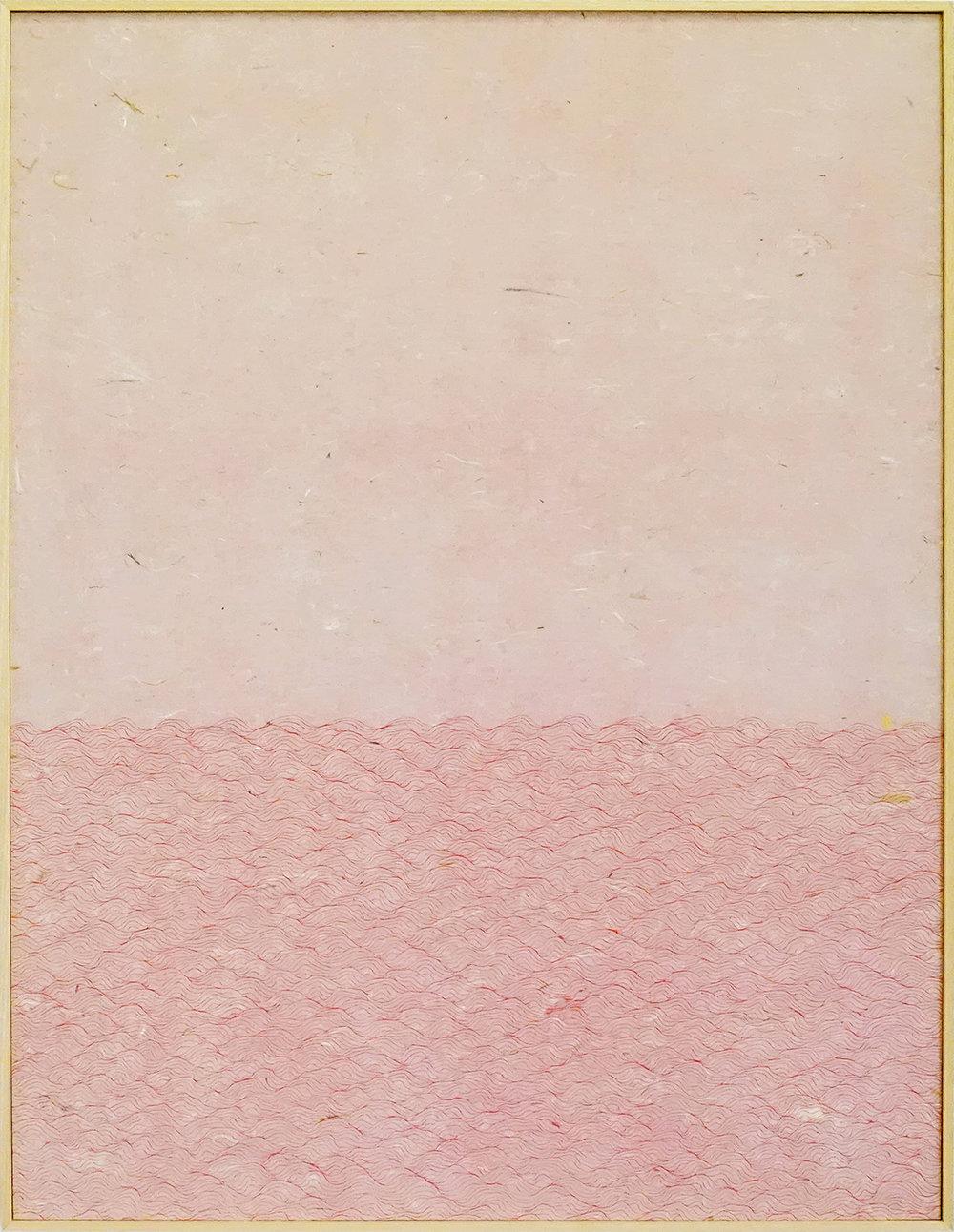 Zhou Jianjun 周建军, Red 红色, 2013, Ink on paper 纸本水墨设色, 93 x 122 cm