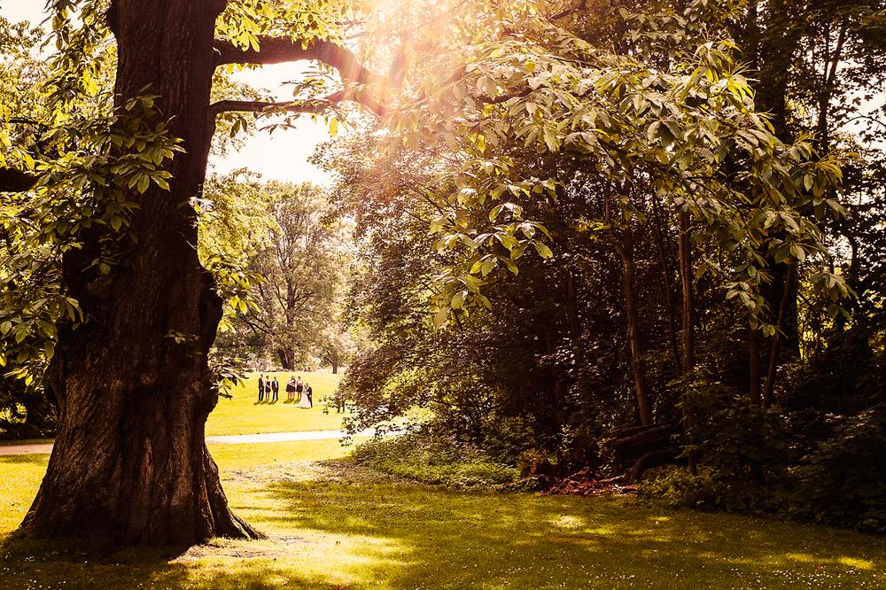 Schlosspark Weitmar. Beliebte Location für Hochzeits-Shootings.