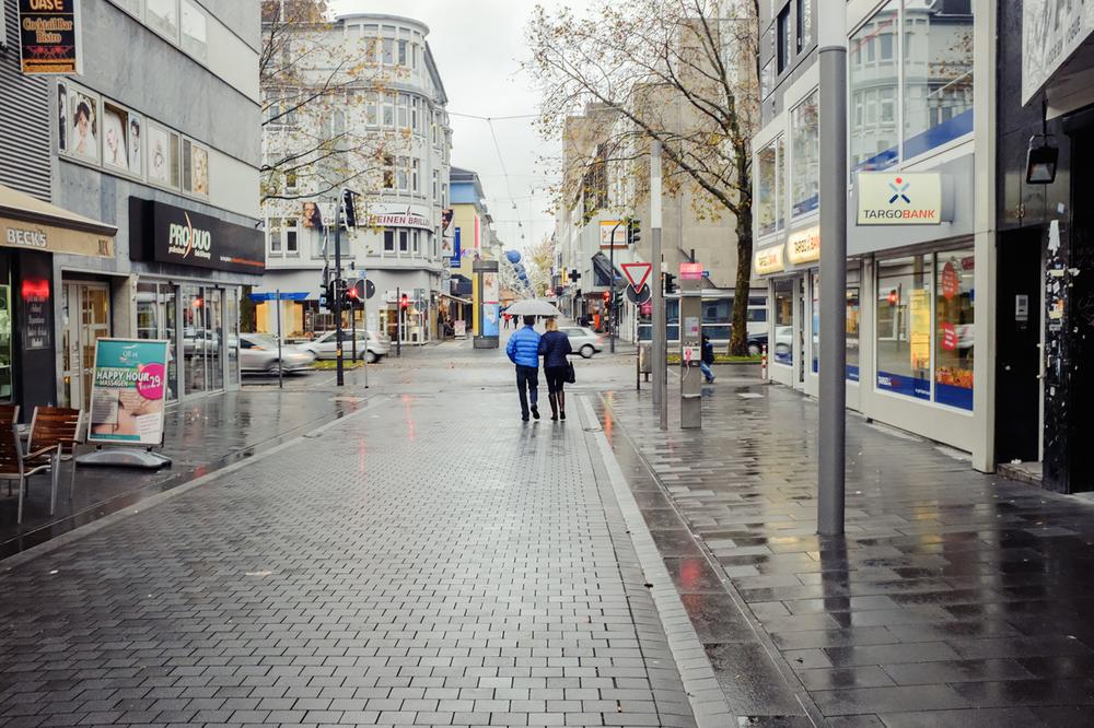 FuZo Bochum. Usseliges Novemberwetter.