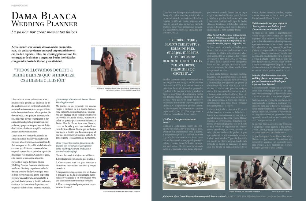 Reportaje a Damablanca en revista Todoboda