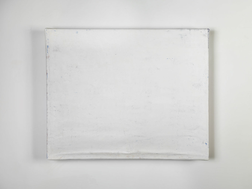 Folded-over Painting (White Horizontal) ,  2012 oil, wax, canvas, wood cm 53 x 69 x 10