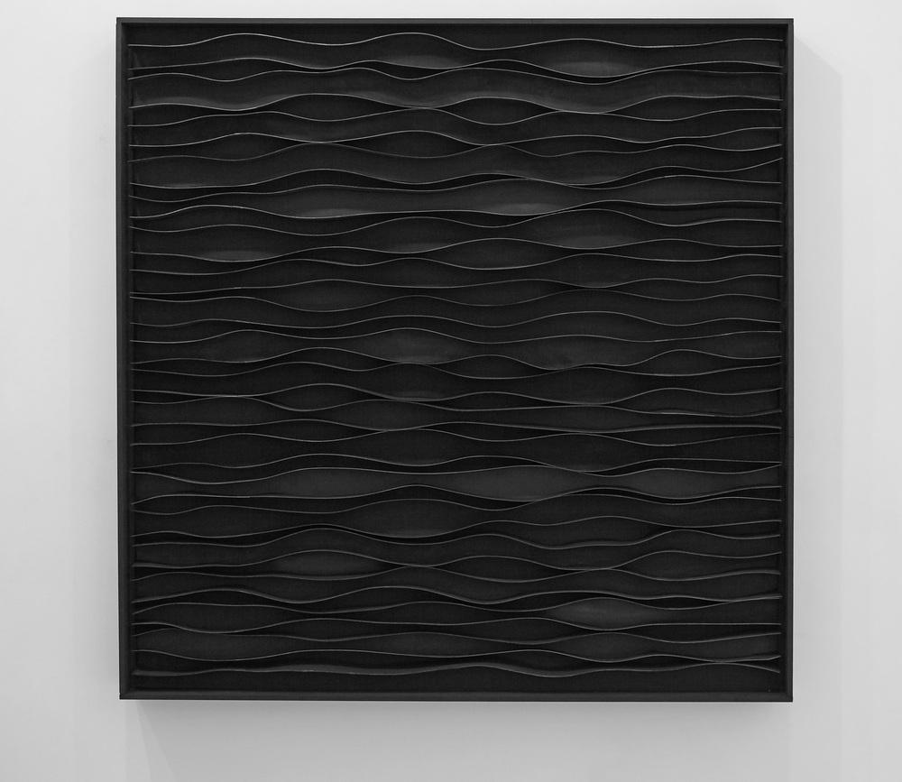 Senza titolo,  2012 legno, carta cm.124x123x11