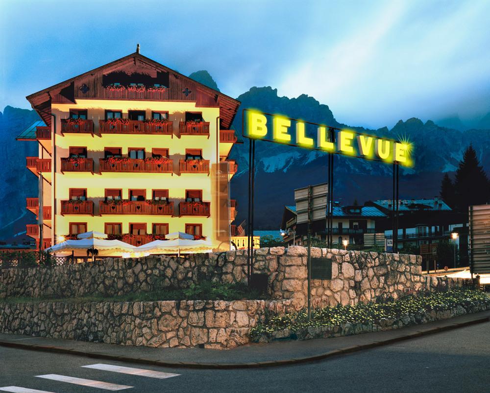 Bellevue  , Cortina d'Ampezzo, 2010   Lightbox , cm 135 x 165 x 12,5 (ed. 1/3)