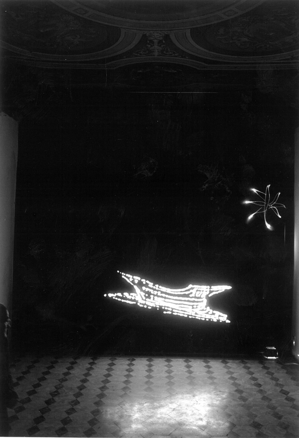 Light , 1996, lightbox, cm 242x101