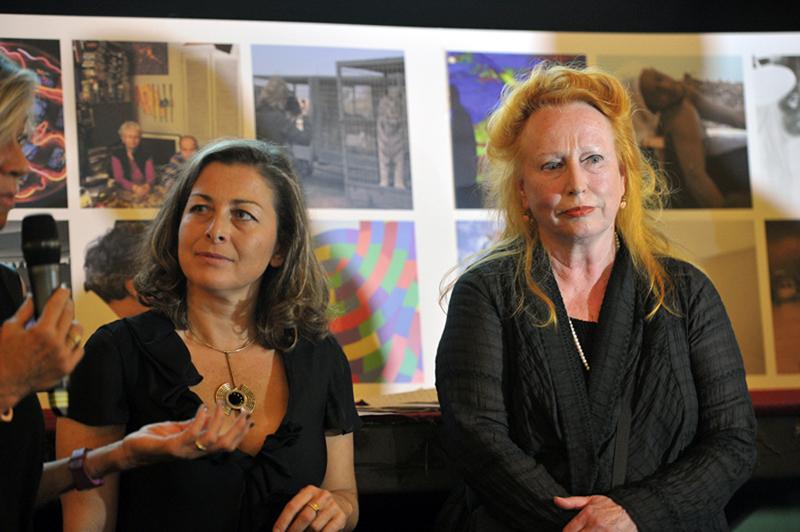 """Artecinema 16 , 2011. Teatro Augusteo. Rebecca Horn commenta il suo film: """"Moon Mirror Journey"""" (Rebecca Horn comments her film: """"Moon Mirror Journey"""""""
