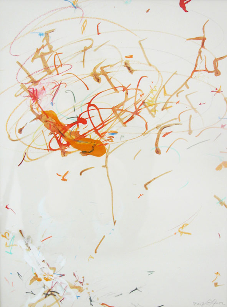 Untitled , 2007, mixed media on paper, cm 32x23 (framed cm 54,5x48,5)