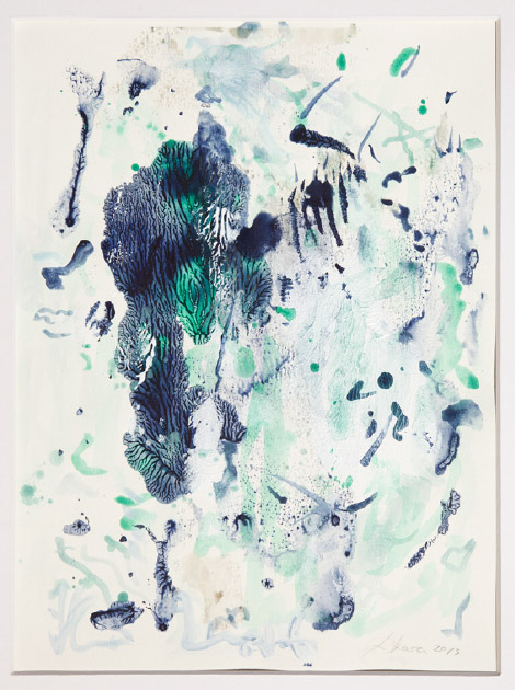 Untitled , 2013, acrylic and ink on paper, cm 32x24,5 (framed cm 56x46)