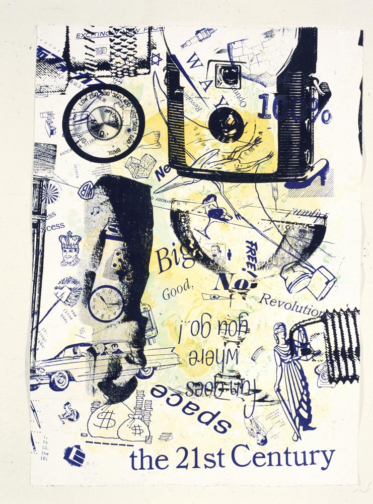 Kenny Scharf, 1991, tecnica mista su cartoncino