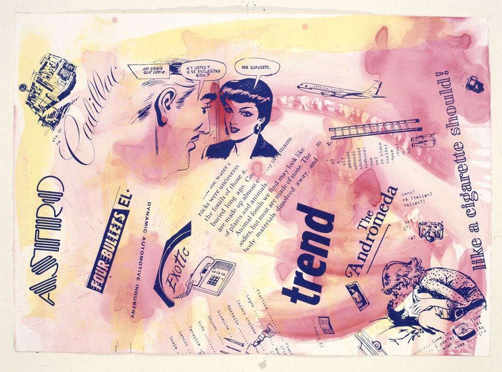 Kenny Scharf, 1991, tecnica mista su cartoncino, cm 76,5x108