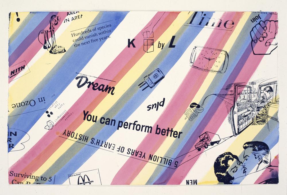 Kenny Scharf, 1991, tecnica mista su cartoncino, cm 66x102